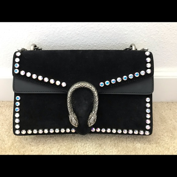 e79d5cadd Gucci Bags | Dionysus Suede Shoulder Bag With Crystals | Poshmark